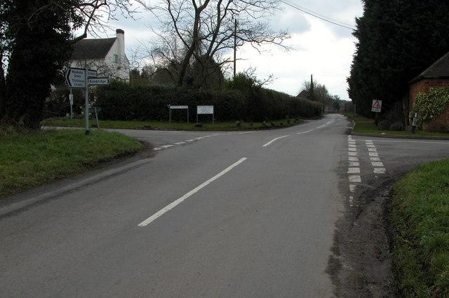 Crutch Lane and Crown Lane cross roads, Elmbridge