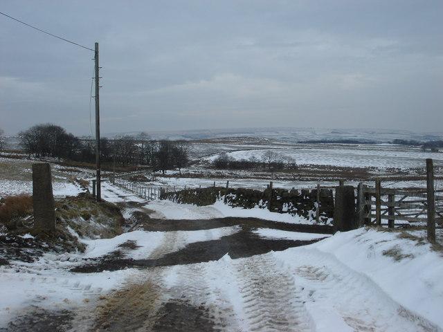 Track near Tom Barn