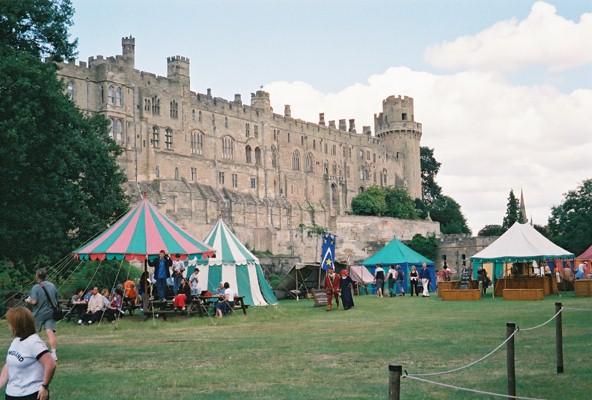 Warwick Castle - Jousting & Handicraft Display area