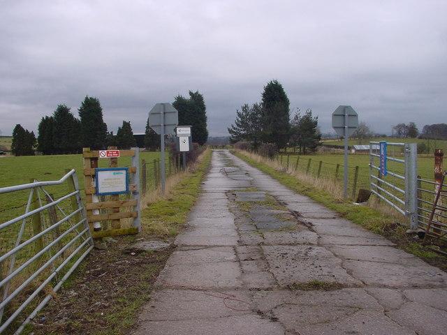 Entrance Drive to Gypsum Mine