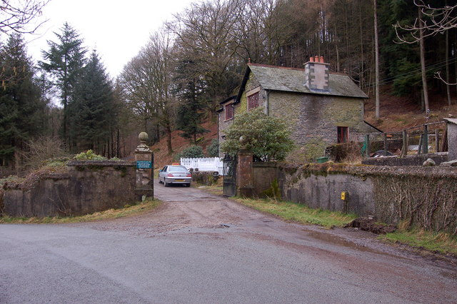 Estate entrance and gatehouse