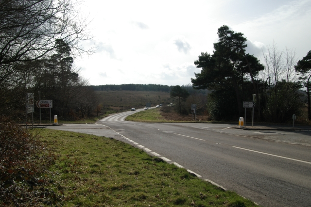 Four Firs junction, Woodbury Common