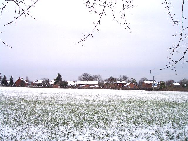 Watery Lane, Upper Welland in Mid-March Snow