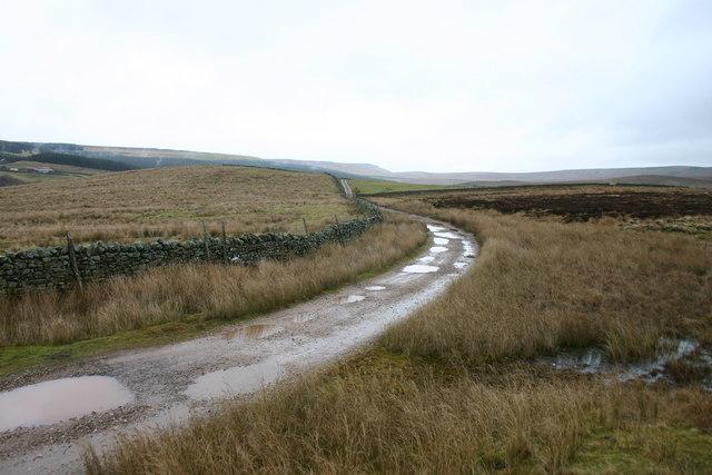 Bridleway, Footpath and Track to Wrenside