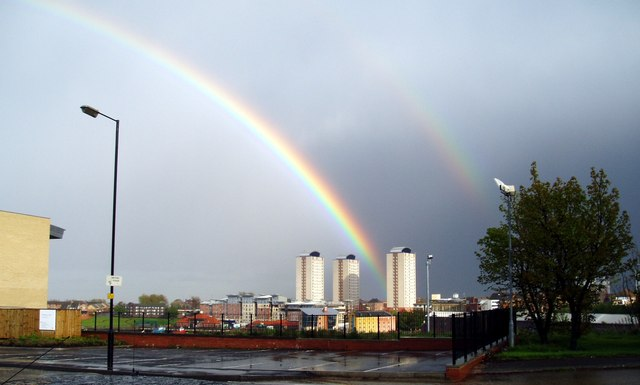 Rainbows over Sunderland, 8th May 2005.