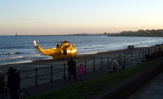 Rescue on the beach, Seaburn, Sunderland, 29th January 2006