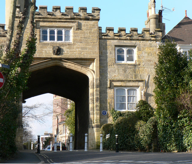 North Lodge in St Leonards on sea, gateway to 'Burton's St Leonards'.