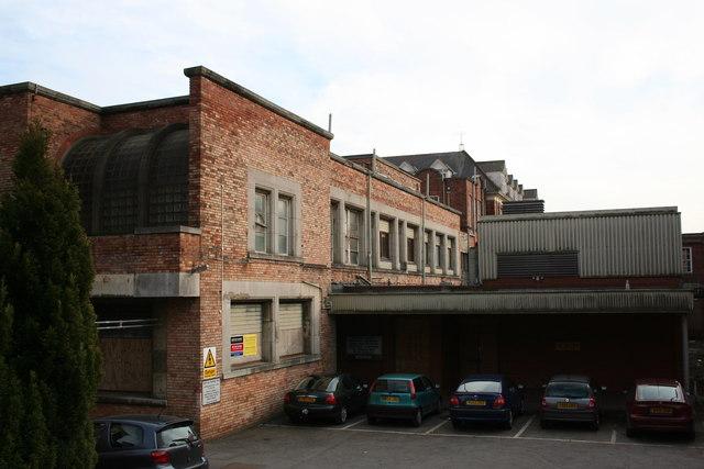 Disused hospital buildings