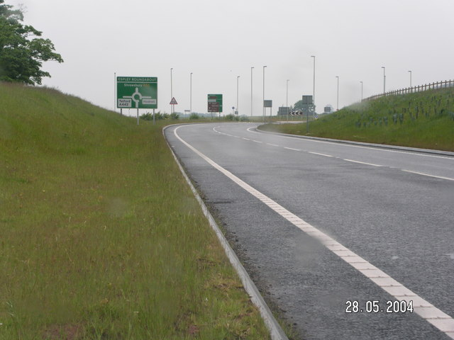 Roundabout on the Hodnet bypass