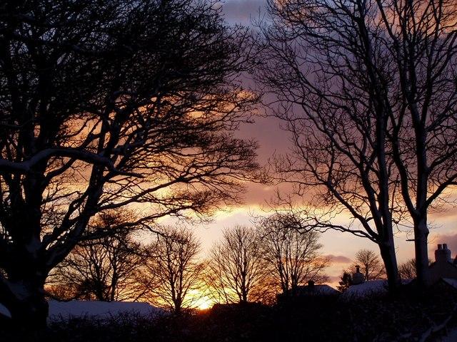 Sunset over SE185944 28th December 2005