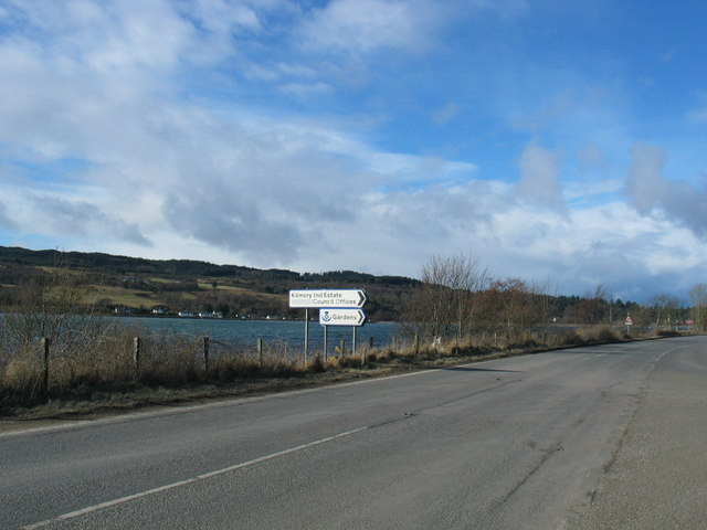 Road signs on the A83 Kilmory.