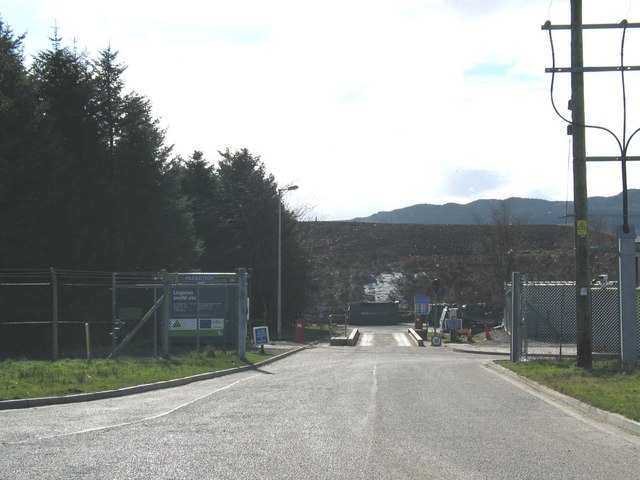 Lingerton Landfill Site by Lochgilphead.