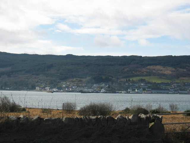 Lingerton looking across Loch Gilp to Ardrishaig.