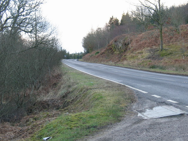 Layby off the A83 at West Kames.