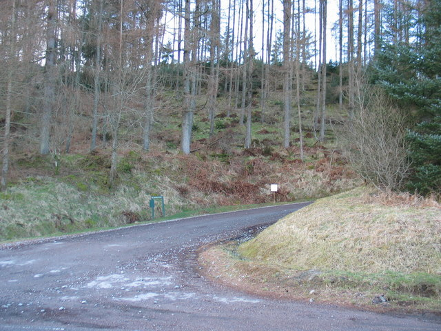 Forestry walk entrance off the A83 between Lochgair and Minard.