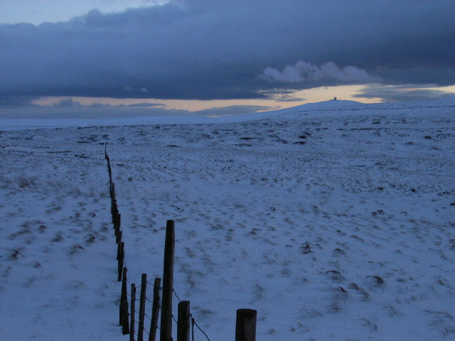 Fence, south of Long Man Hill