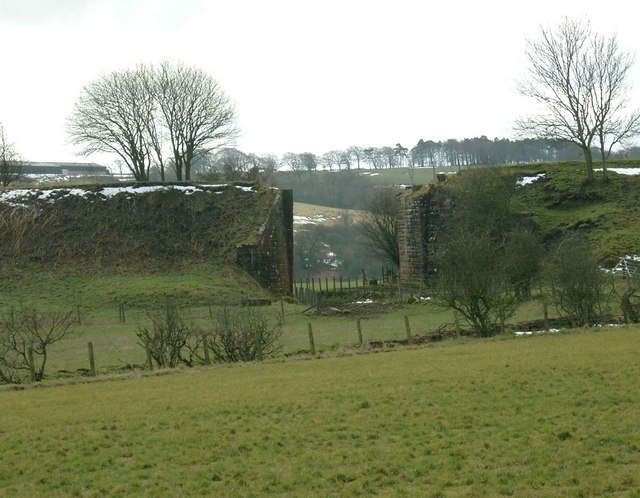 Former bridge on the Strathaven to Darvel railway line