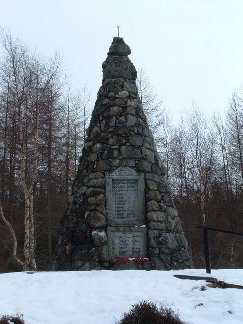 War Memorial Overlooking Loch Rannoch