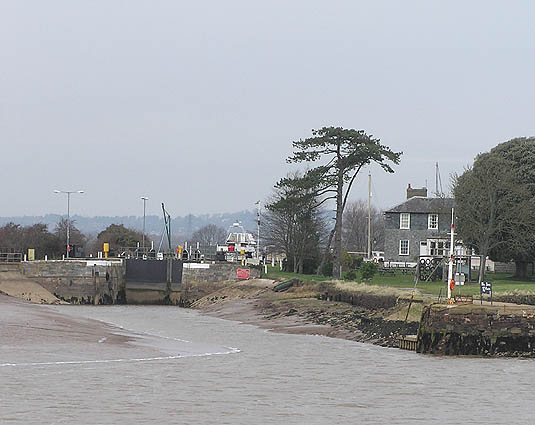 Turf lock and Inn from the River Exe