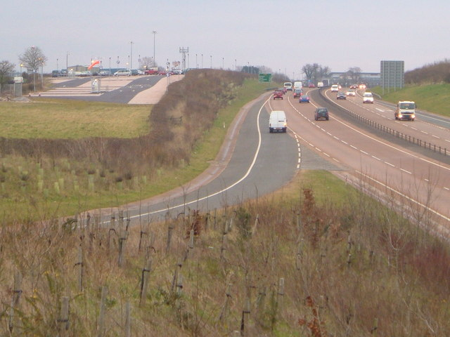 A30 junction for Exeter Airport