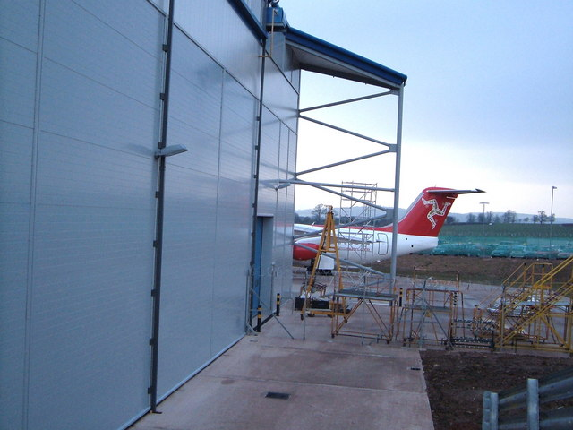 New Flybe building at Exeter Airport