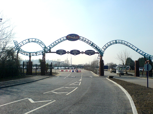 Thorpe Park's Car Park Entrance