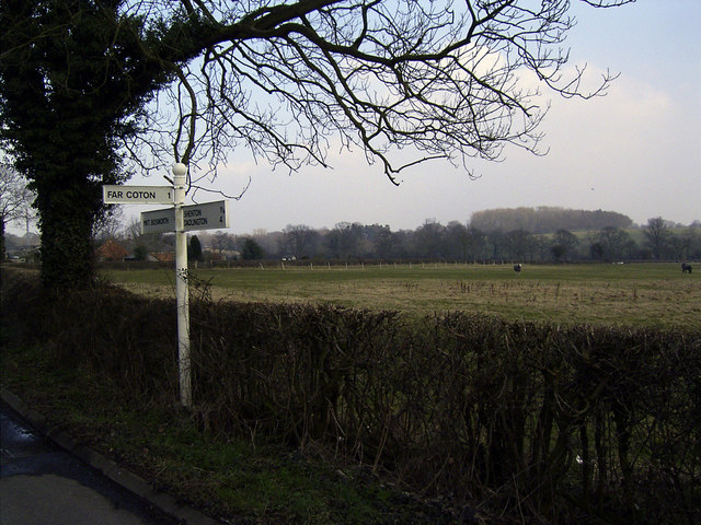Signpost near Market Bosworth