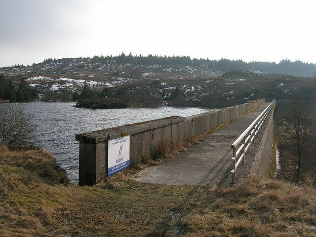 Lure Dam, Loch Bradan.