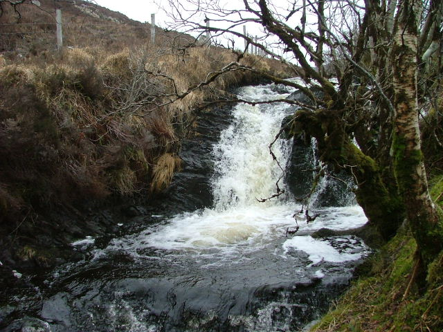 Waterfall from Loch Dhughaill