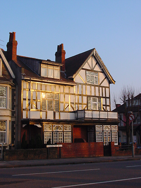 Half timbered house on the Gloucester Road (A38)