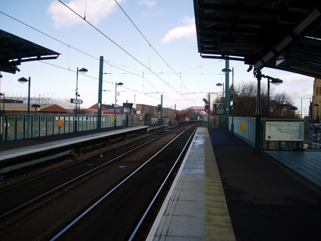 St Peter's Metro Station, Monkwearmouth, Sunderland, 16th February 2006.