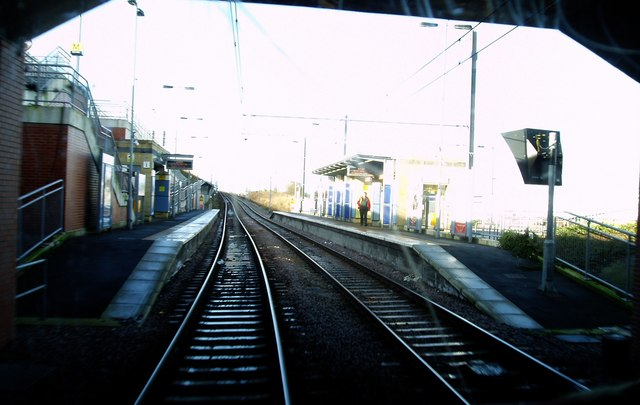 Entering Pallion Metro Station, 16th February 2006.