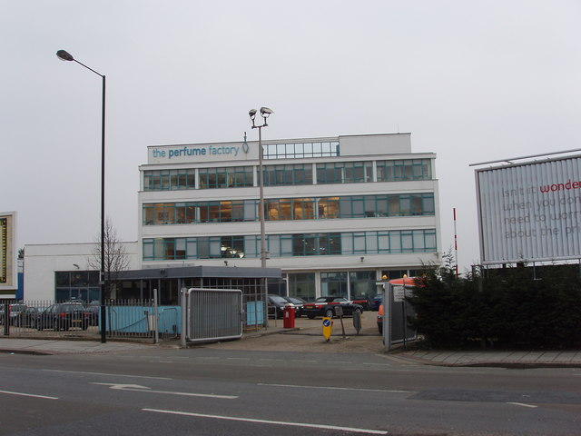 """The Perfume Factory"" offices in Wales Farm Road, North Acton"
