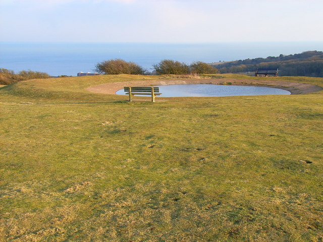 Dewpond above Eastbourne