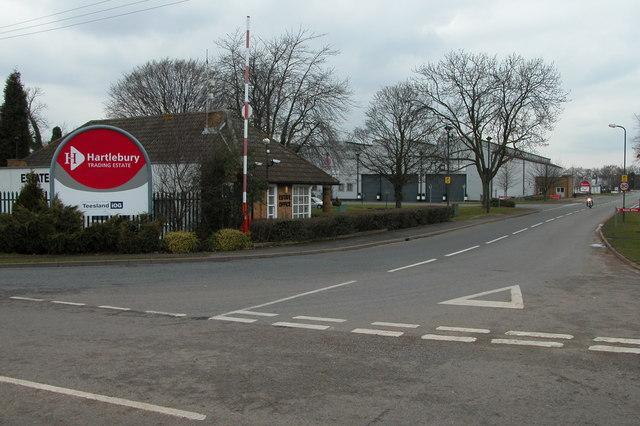 Entrance to Hartlebury Trading estate