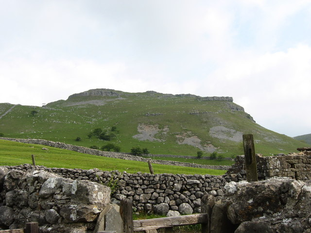 A typical limestone outcrop near Gordale Scar.