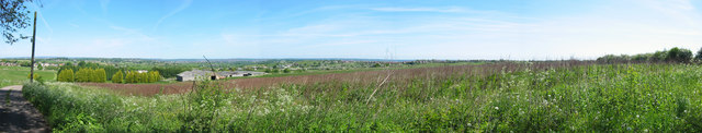 Panorama of Leeds from Drighlington.