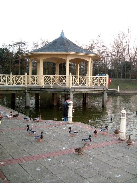 Bandstand & Ducks, Watermead, Aylesbury