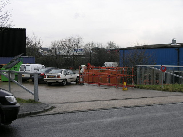 Motorway Through Industrial Estate