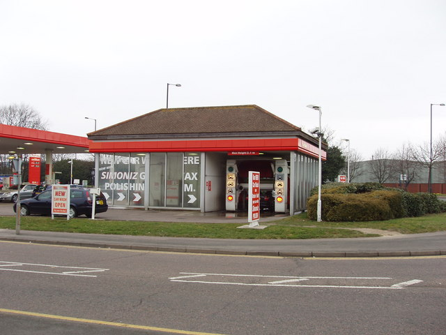 Car wash and filling station, Longford