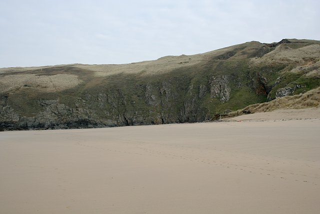 Northern end of Perran Sands
