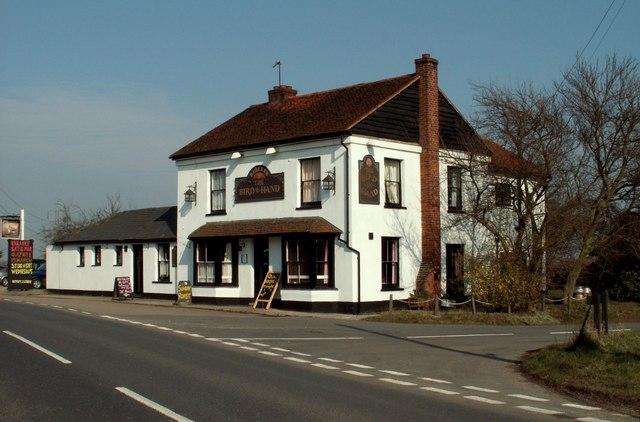 'Bird In Hand' public house on the B.1024, Essex
