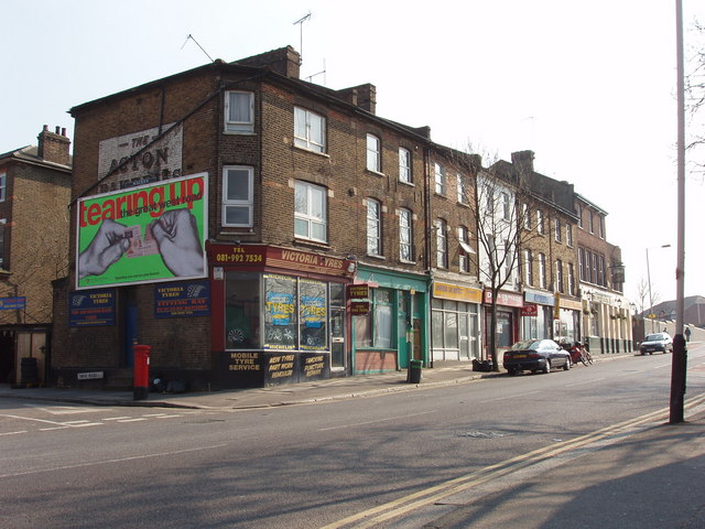 Horn Lane junction with  York Road, North Acton