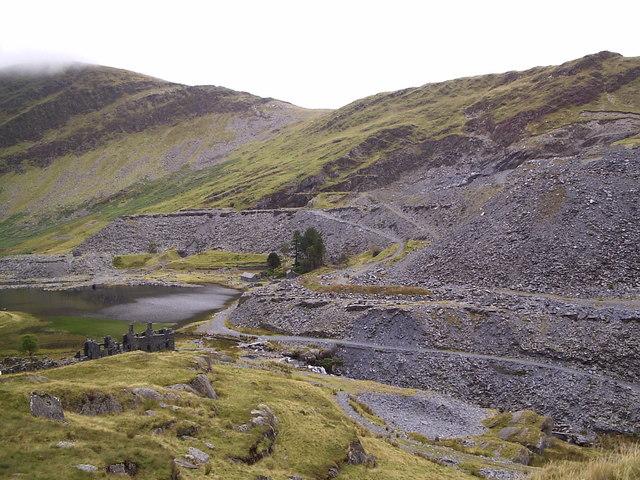 Cwmorthin slate quarry.
