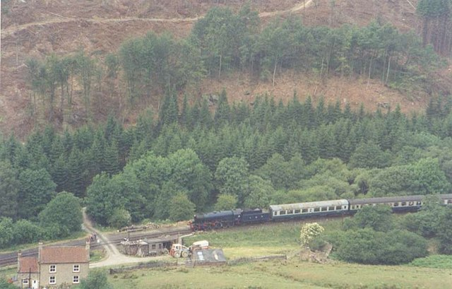 NYMR Train passing Kidstye Farm