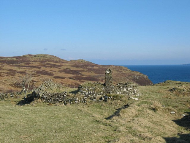 Ruined croft house at Galtrigill