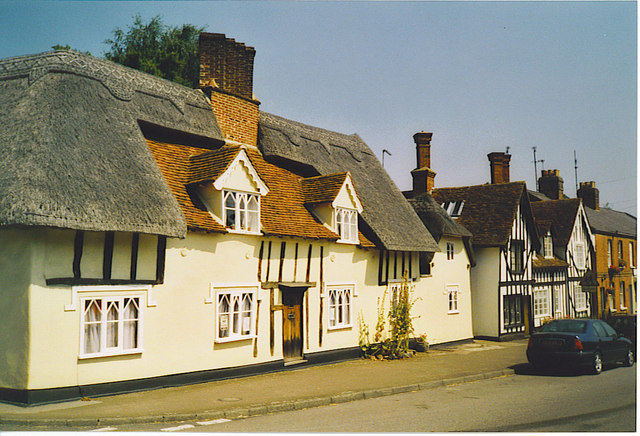 Cottages, Great Bardfield High Street.