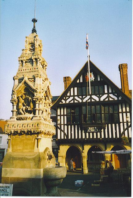 Market Cross and Town Hall, Saffron Walden.