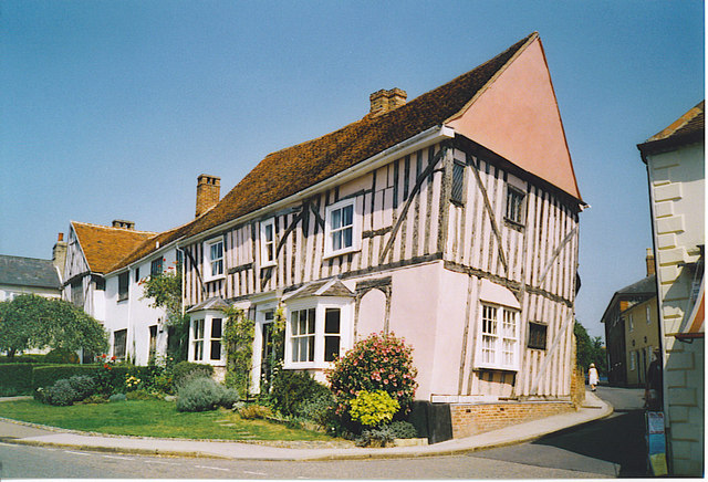Mediaeval house on High Street, Lavenham.