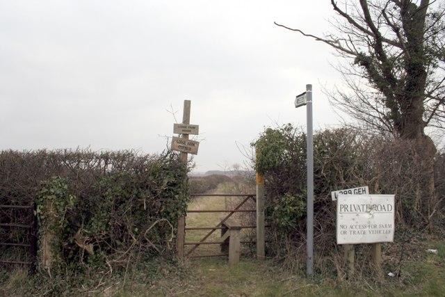 Stile and footpath near Tickencote